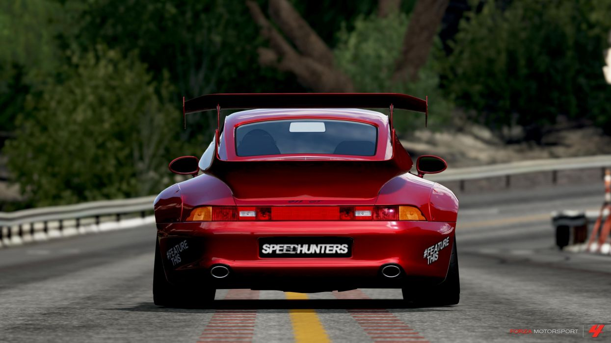 video games Porsche red cars Forza Motorsport 4 wallpaper