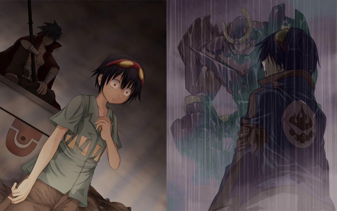 Kamina mecha Tengen Toppa Gurren Lagann Simon anime wallpaper
