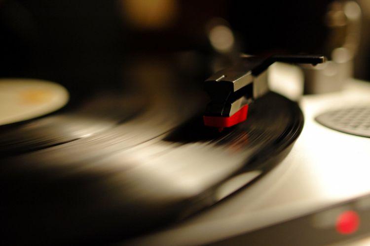 music record turntable vinyl wallpaper
