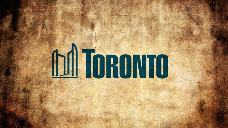 cityscapes Canada Toronto logos wallpaper