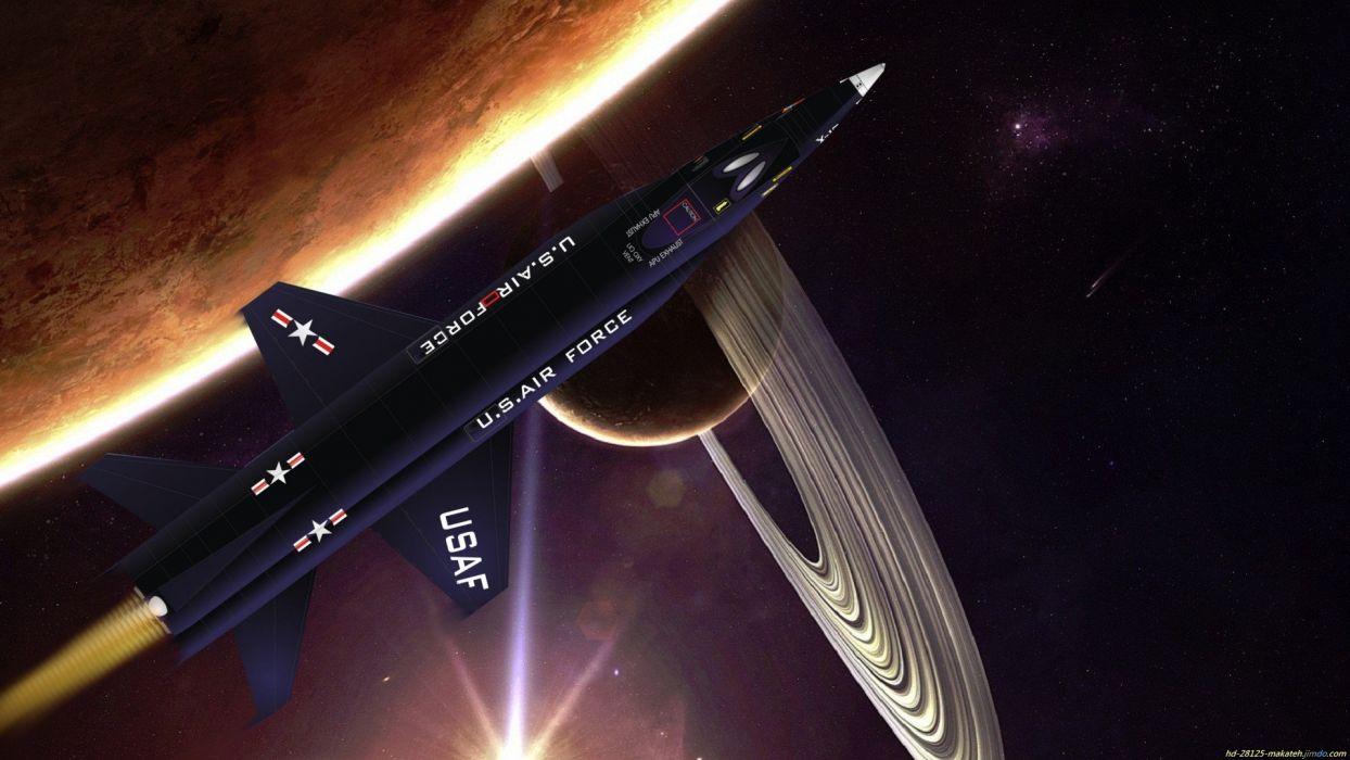 futuristic planets spaceships digital art science fiction X-15 sci-fi wallpaper