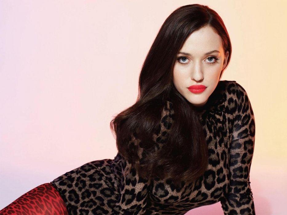 brunettes actress celebrity Kat Dennings huge boobs wallpaper