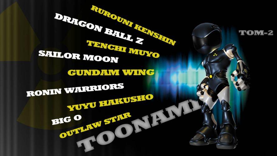 Rurouni Kenshin robots Sailor Moon Gundam Wing Tenchi Muyo Yu Yu Hakusho Toonami Outlaw Star Big O Dragon Ball Z TV series wallpaper