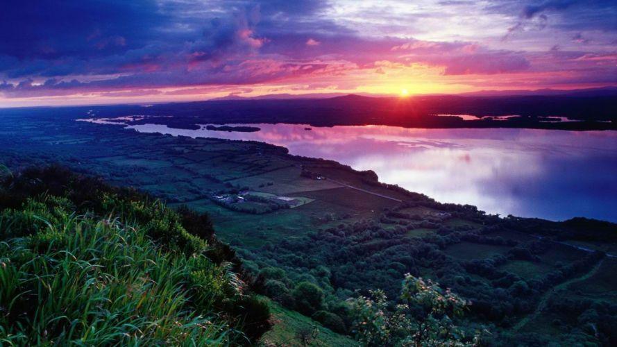 sunset Ireland wallpaper