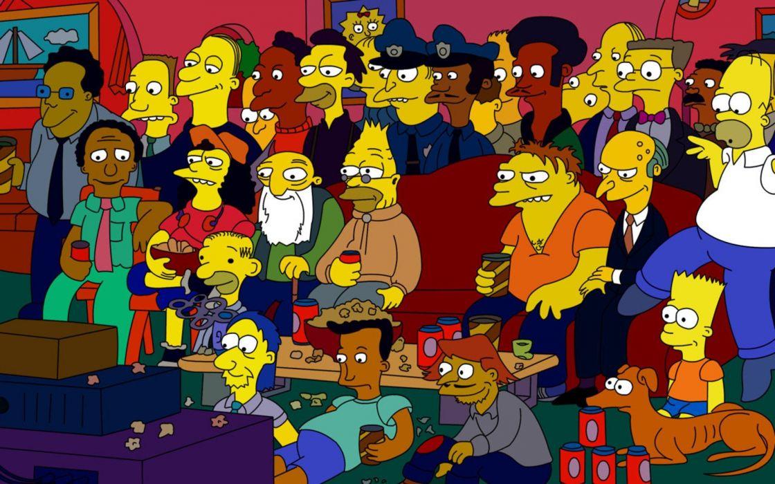 Homer Simpson The Simpsons Bart Simpson Mr_ Burns Smithers Abraham Simpson santa's little helper carl Barney Gumble Apu Nahasapeemapetilon wallpaper