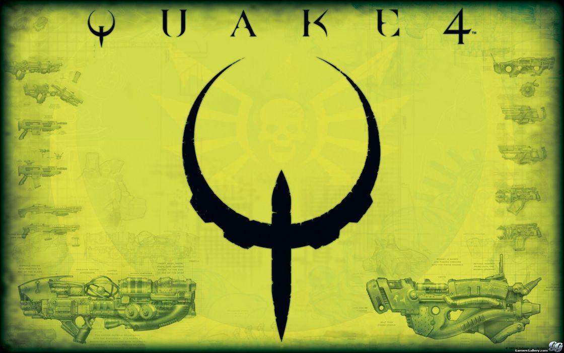 video games quake green background wallpaper