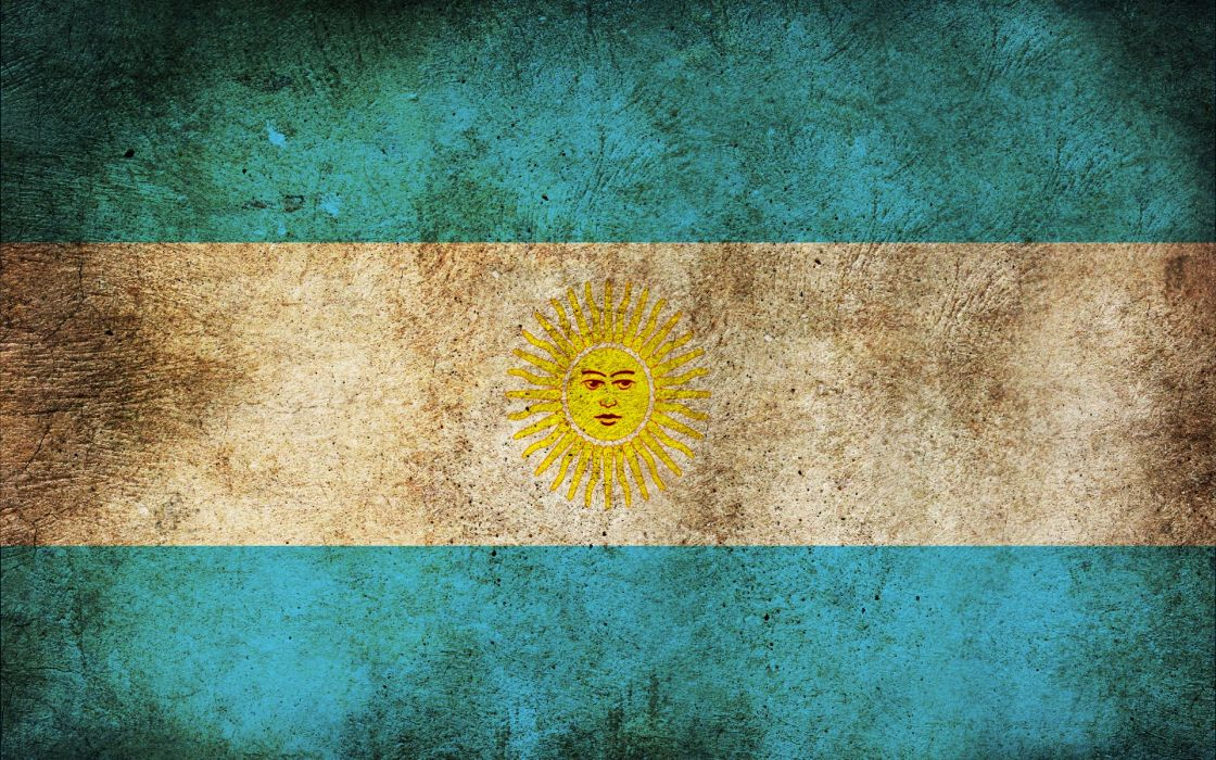 grunge Argentina flags wallpaper