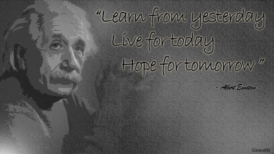 white quotes Albert Einstein wallpaper