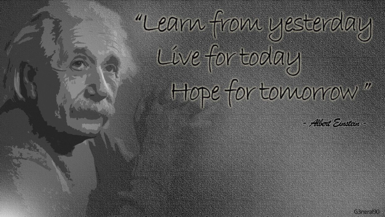 White Quotes Albert Einstein Wallpaper
