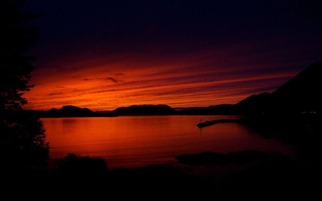 sunset Alaska wallpaper