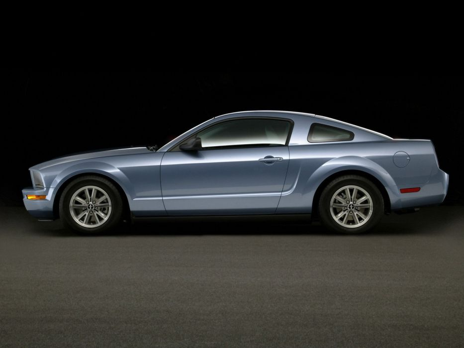 blue studio vehicles Ford Mustang wallpaper