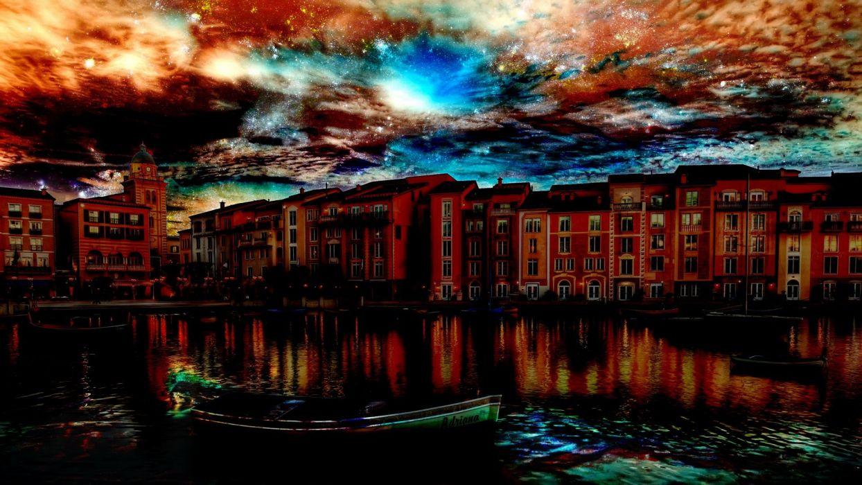 landscapes cityscapes architecture Venice HDR photography wallpaper