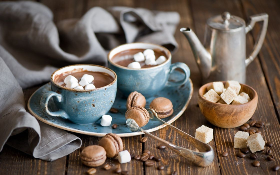 marshmallow hot cocoa wallpaper