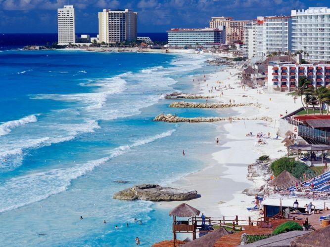 landscapes Mexico beaches wallpaper