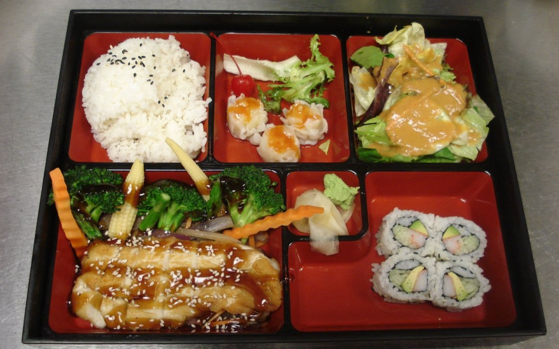 food Japanese rice lunch bento wallpaper