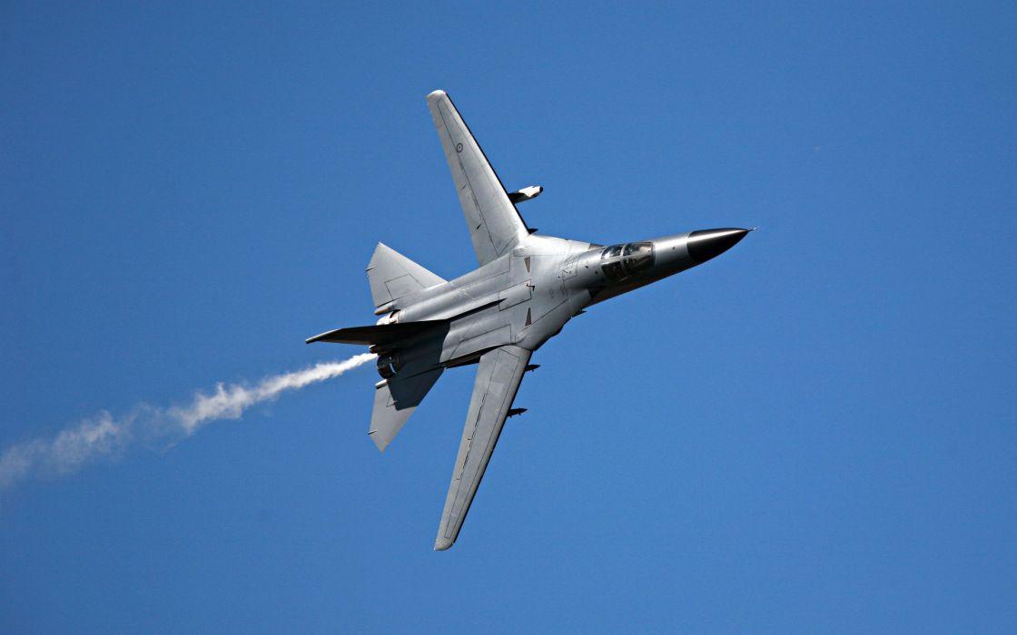 aircraft military F-111 Aardvark contrails wallpaper