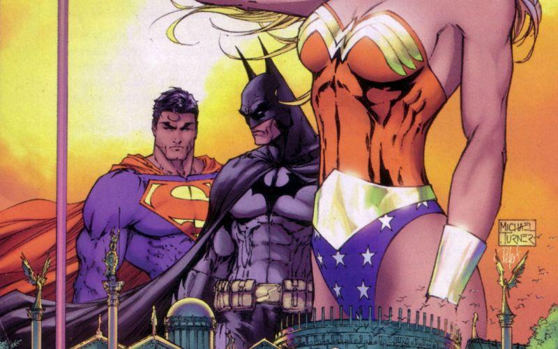 Batman DC Comics comics Superman comics girls Michael Turner Wonder Woman wallpaper