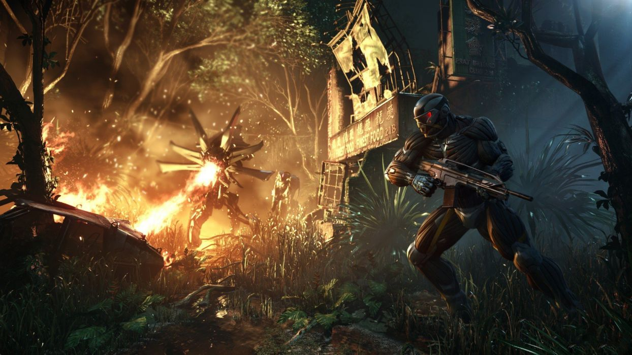 video games Crysis science fiction artwork games Crysis 3 wallpaper