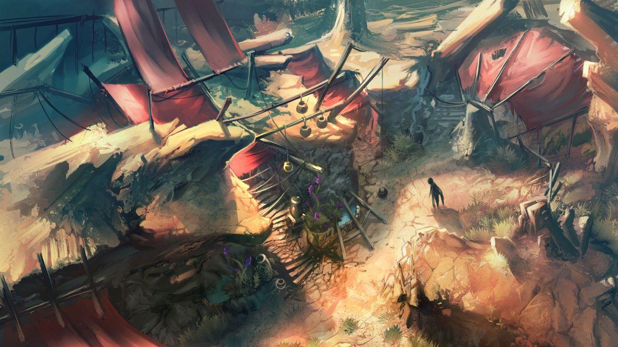 concept art artwork Diablo III wallpaper