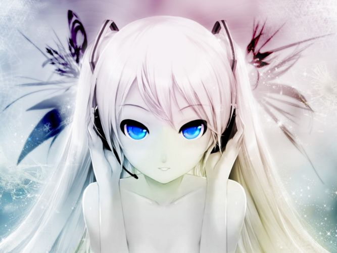 Vocaloid Hatsune Miku blue eyes anime wallpaper