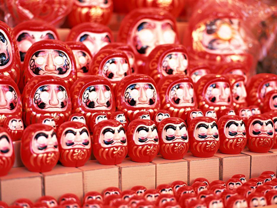 Japan toys (children) japan views Japanese traditions Daruma wallpaper