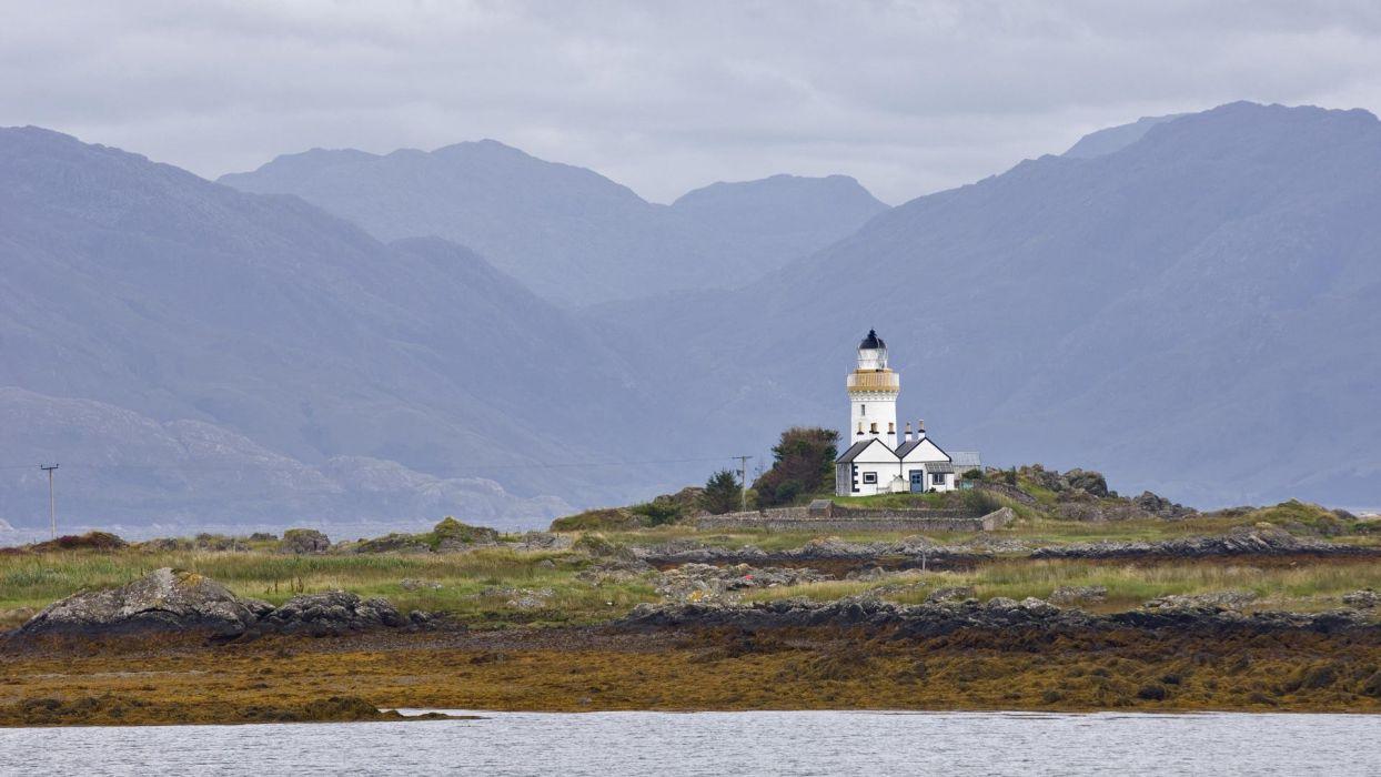 lighthouses Scotland Isle of Skye wallpaper