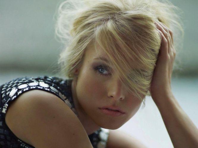 blondes women Kristen Bell actress faces wallpaper