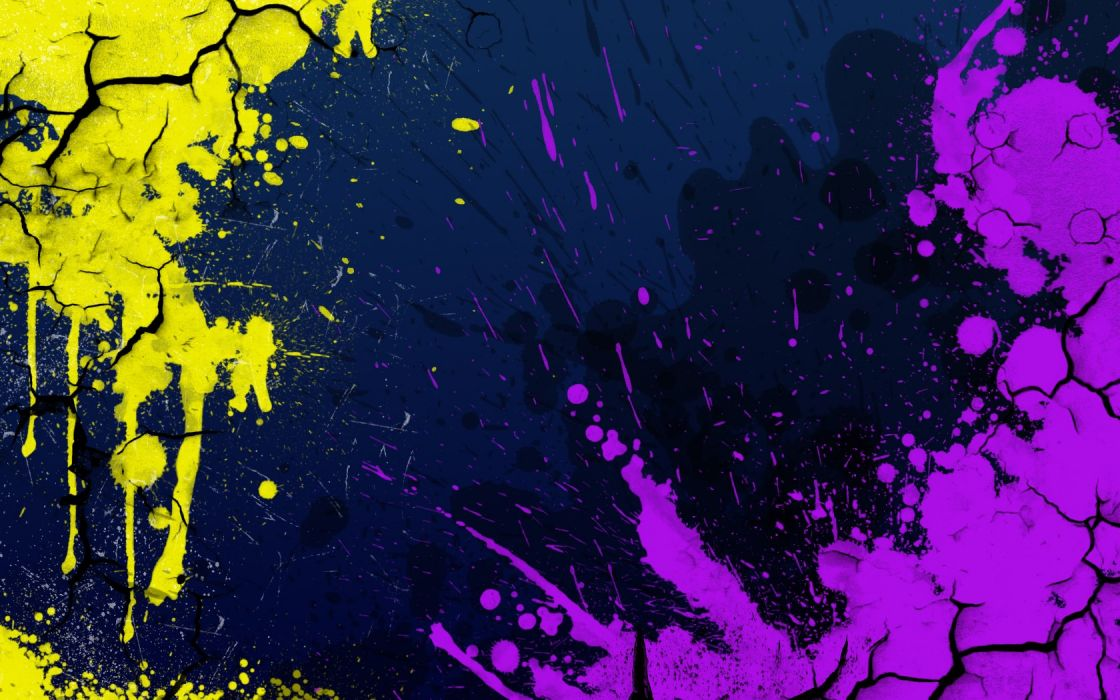 abstract cracks paint splatter wallpaper