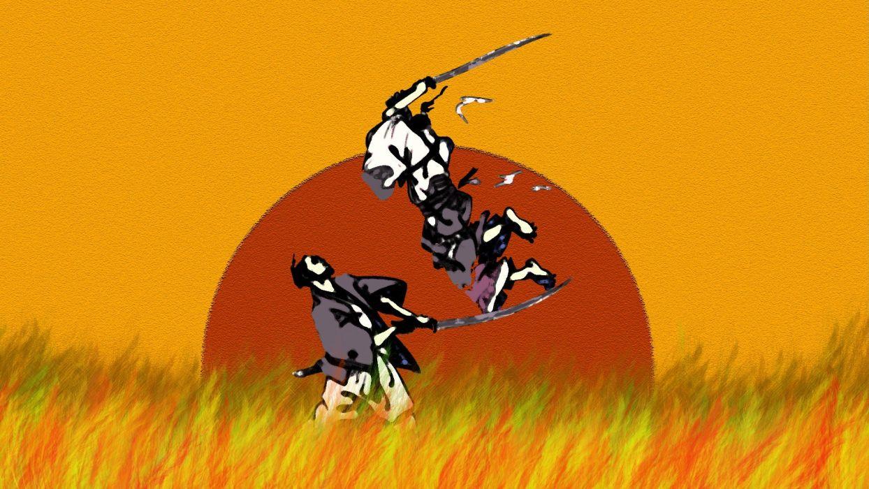 dawn fight samurai wallpaper