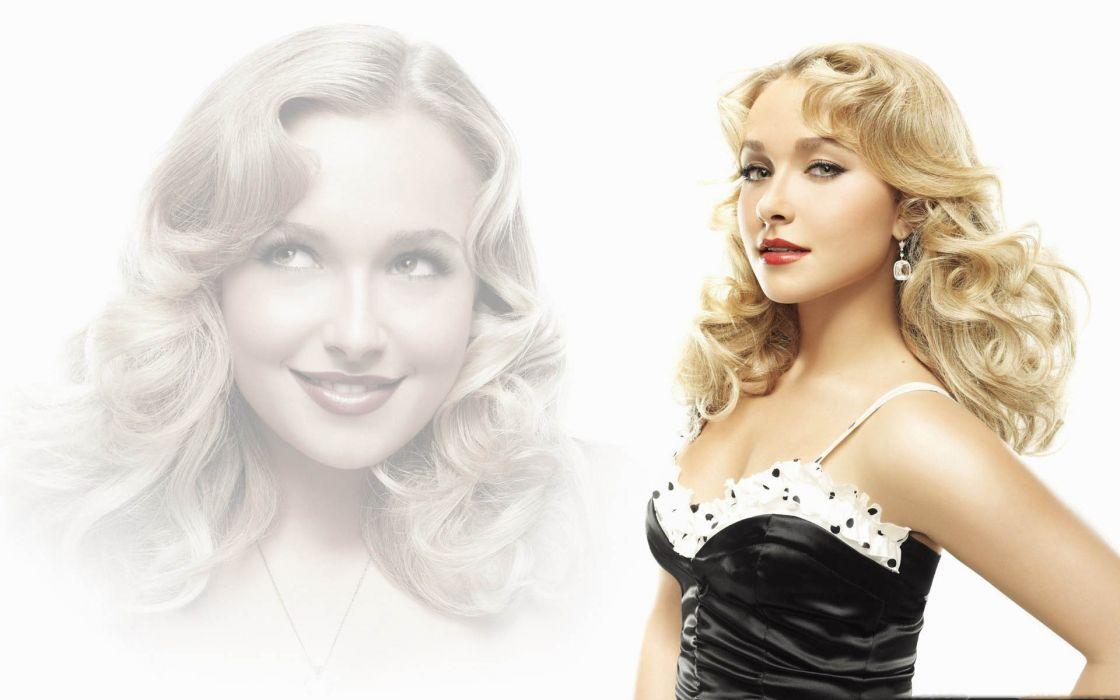 blondes women actress Hayden Panettiere green eyes wallpaper