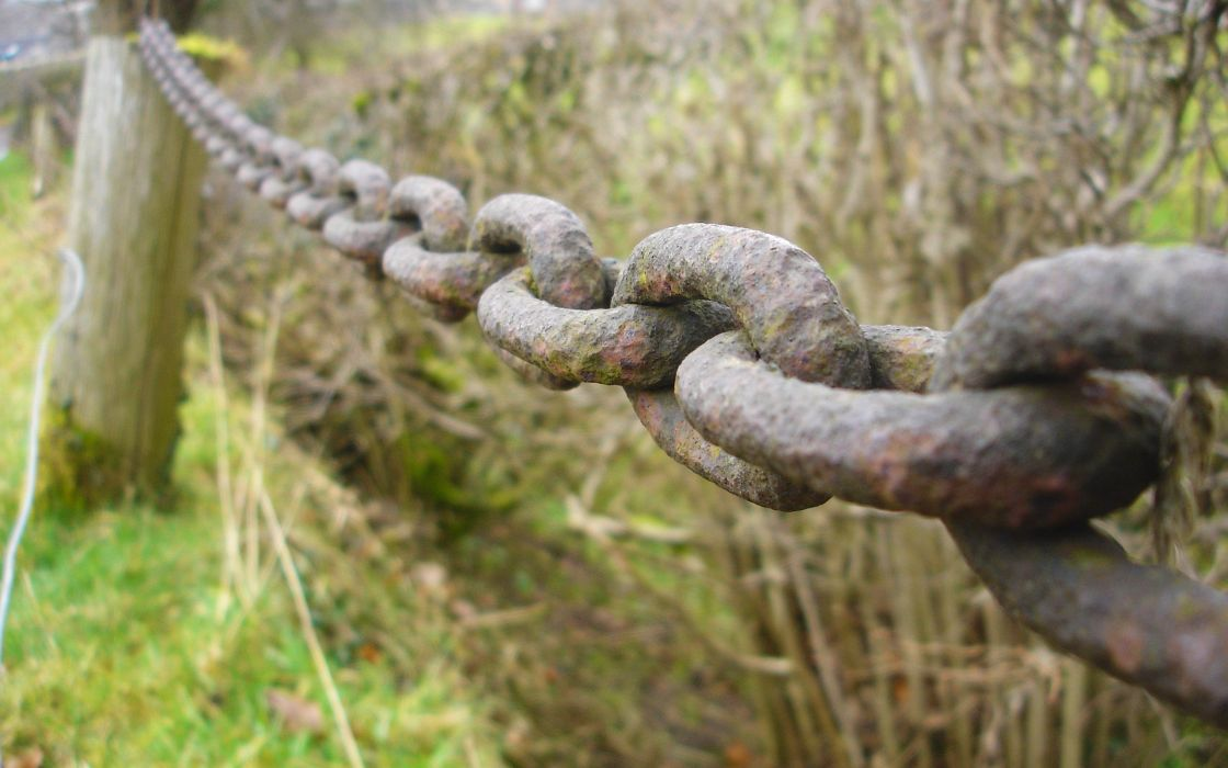 nature rusted chains objects wallpaper