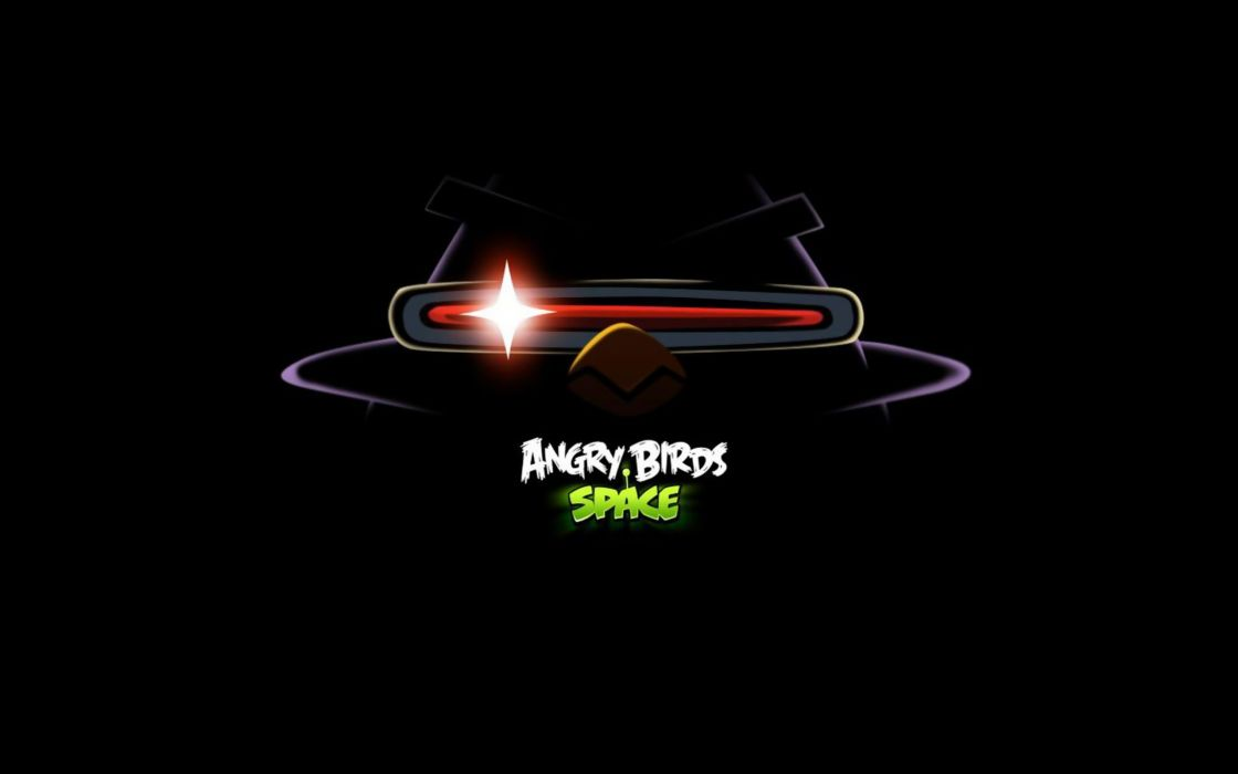 video games Angry Birds black background Angry Birds Space wallpaper