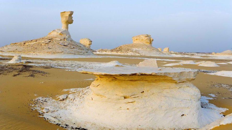 landscapes white deserts Egypt oasis wallpaper