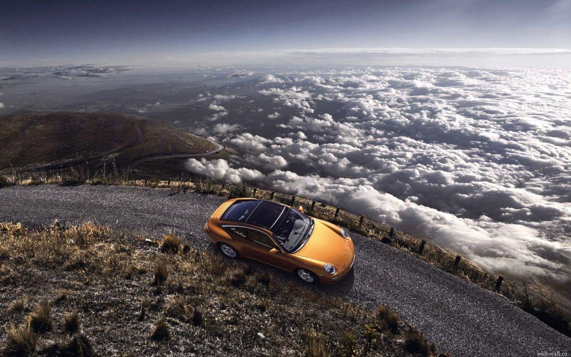 clouds landscapes Porsche cars skyscapes wallpaper
