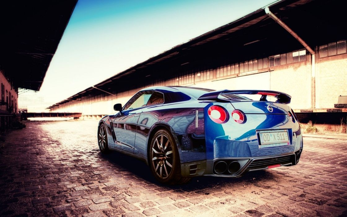 blue cars Nissan scenic vehicles reflections blue cars Nissan Skyline GT-R Nissan GT-R R35 wallpaper