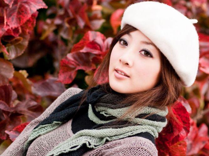 brunettes women colors Mikako Zhang Kaijie wallpaper
