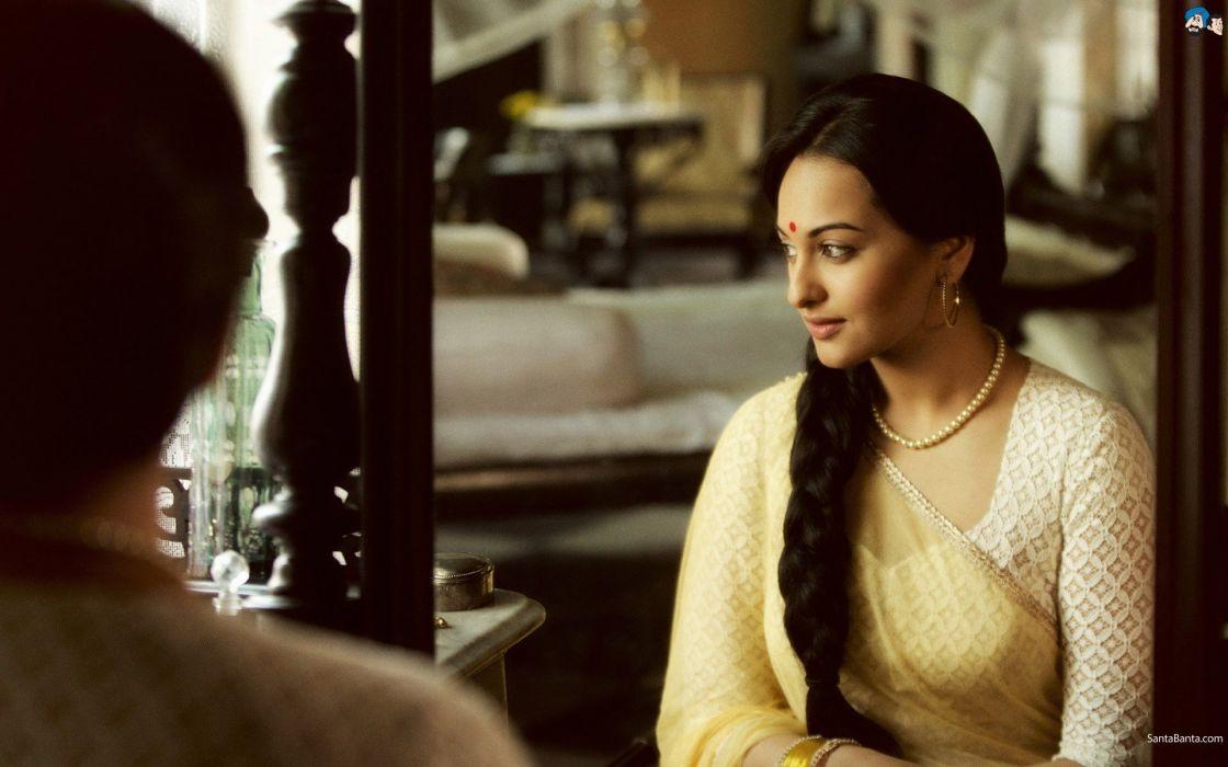 women actress Bollywood indian girls Sonakshi Sinha Bollywood actress photo shoot stills models Lootera wallpaper