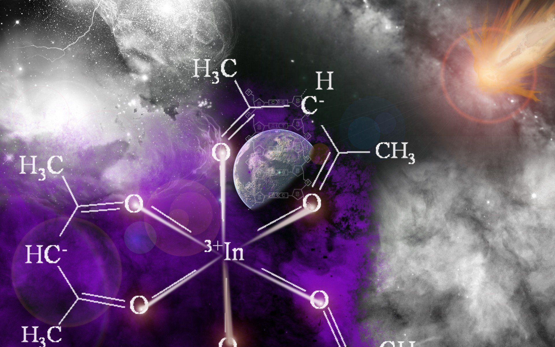 outer space energy chemistry wallpaper 1920x1200