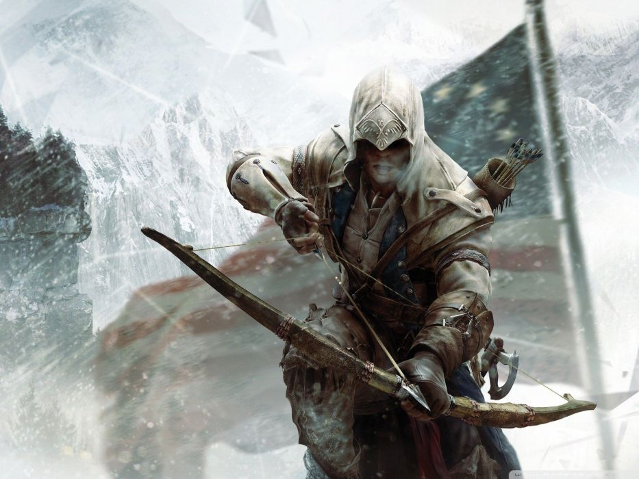 video games Assassins Creed archers Assassins Creed 3 bow (weapon) pc games wallpaper