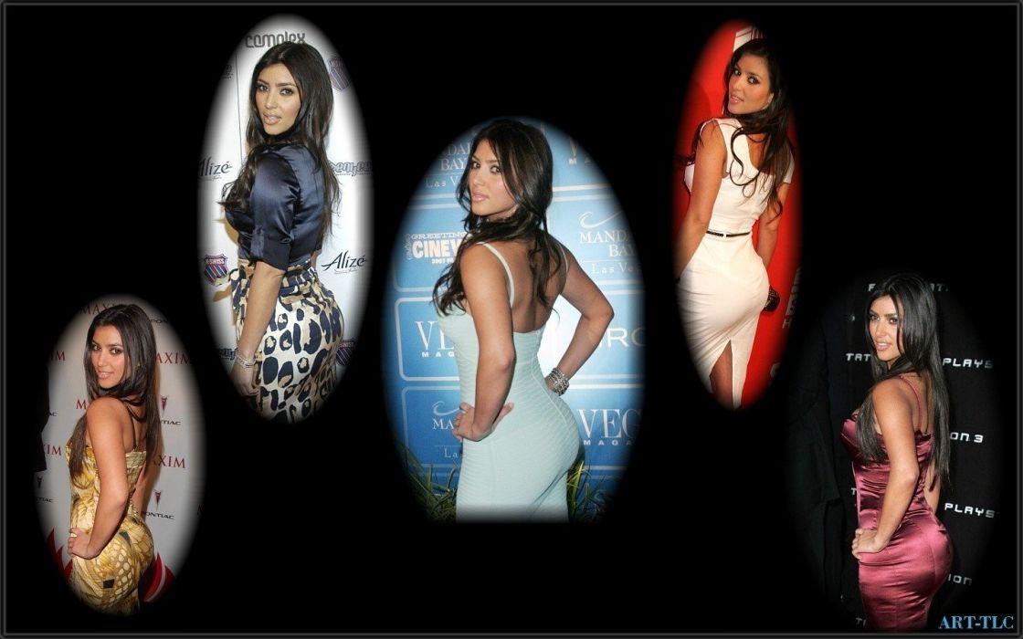 brunettes women Kim Kardashian wallpaper