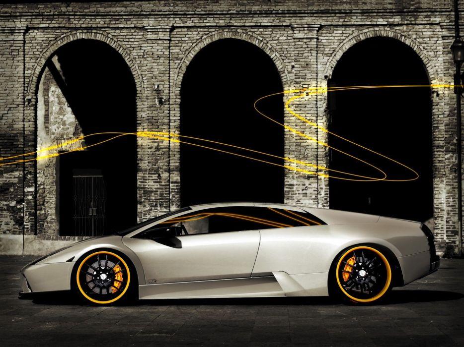 cars Lamborghini Murcielago photo manipulation wallpaper