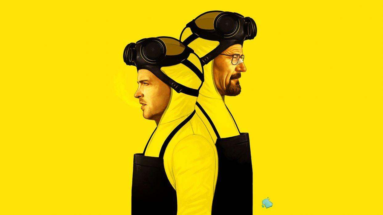 Breaking Bad yellow background wallpaper