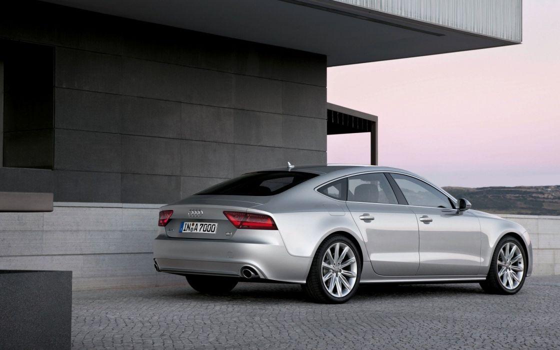 cars Audi silver vehicles German limousines Audi A7 German cars wallpaper