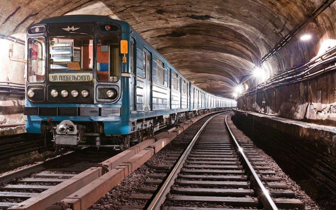 trains metro subway Moscow wallpaper