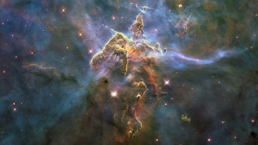 dust gas Carina nebula wallpaper