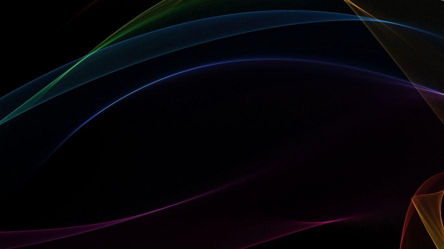 abstract black minimalistic waves gradient wallpaper