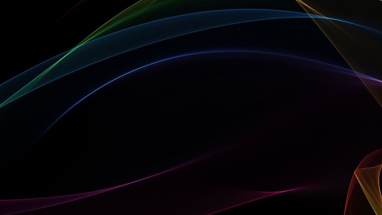 abstract black minimalistic waves gradient wallpaper