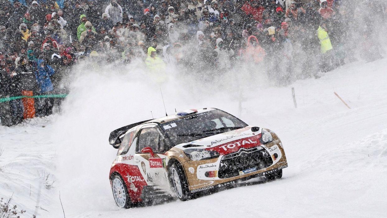 snow cars rally racing CitroAIA wallpaper
