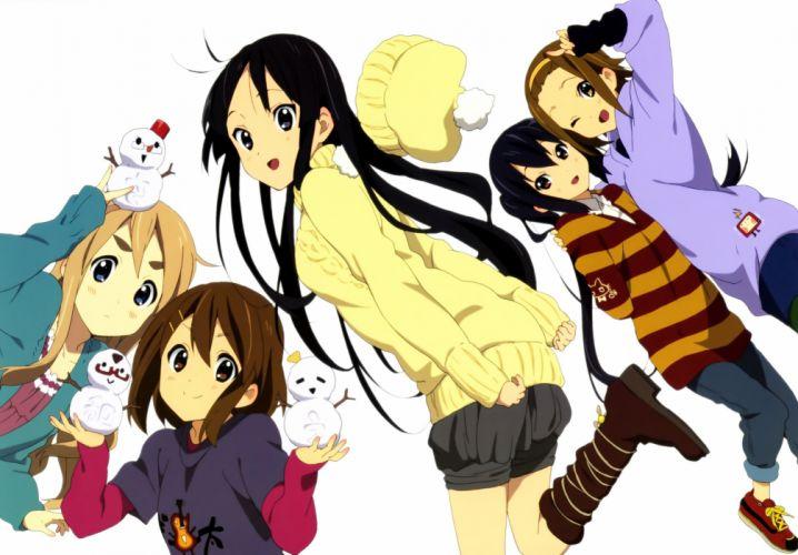K-ON! Hirasawa Yui Akiyama Mio Tainaka Ritsu Kotobuki Tsumugi Nakano Azusa anime wallpaper