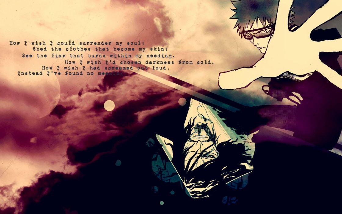 Bleach Kurosaki Ichigo quotes anime Zangetsu wallpaper